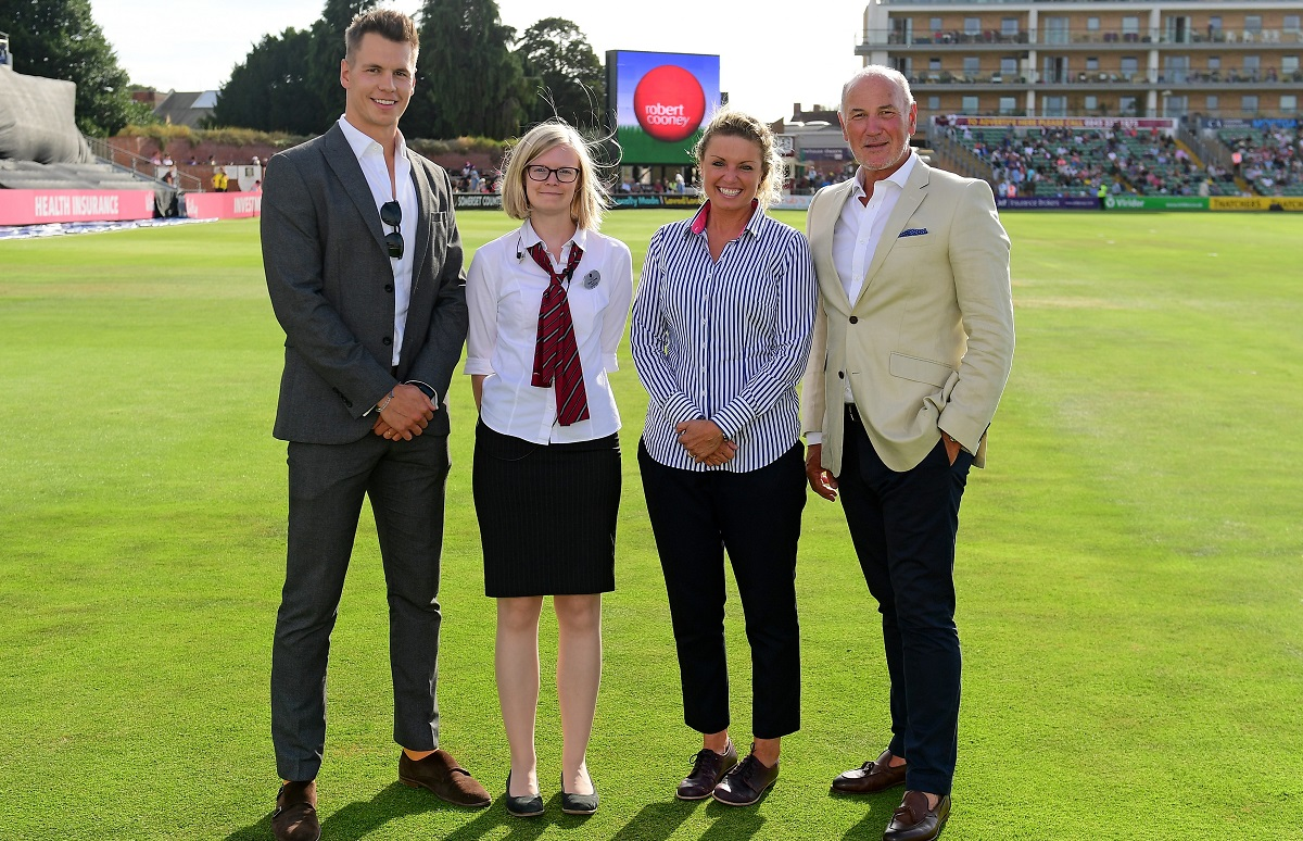 during the Vitality Blast South Group match between Somerset and Hampshire at The Cooper Associates County Ground on August 1st, 2018 in Taunton, England. (Photo by Alex Davidson)