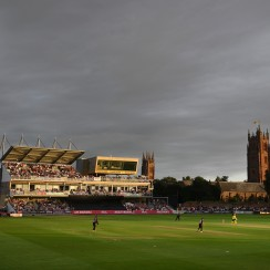 TAUNTON, ENGLAND - JULY 26: during the Vitality Blast match between Somerset and Hampshire at The Cooper Associates County Ground on July 26, 2019 in Taunton, England. (Photo by Harry Trump/Getty Images)