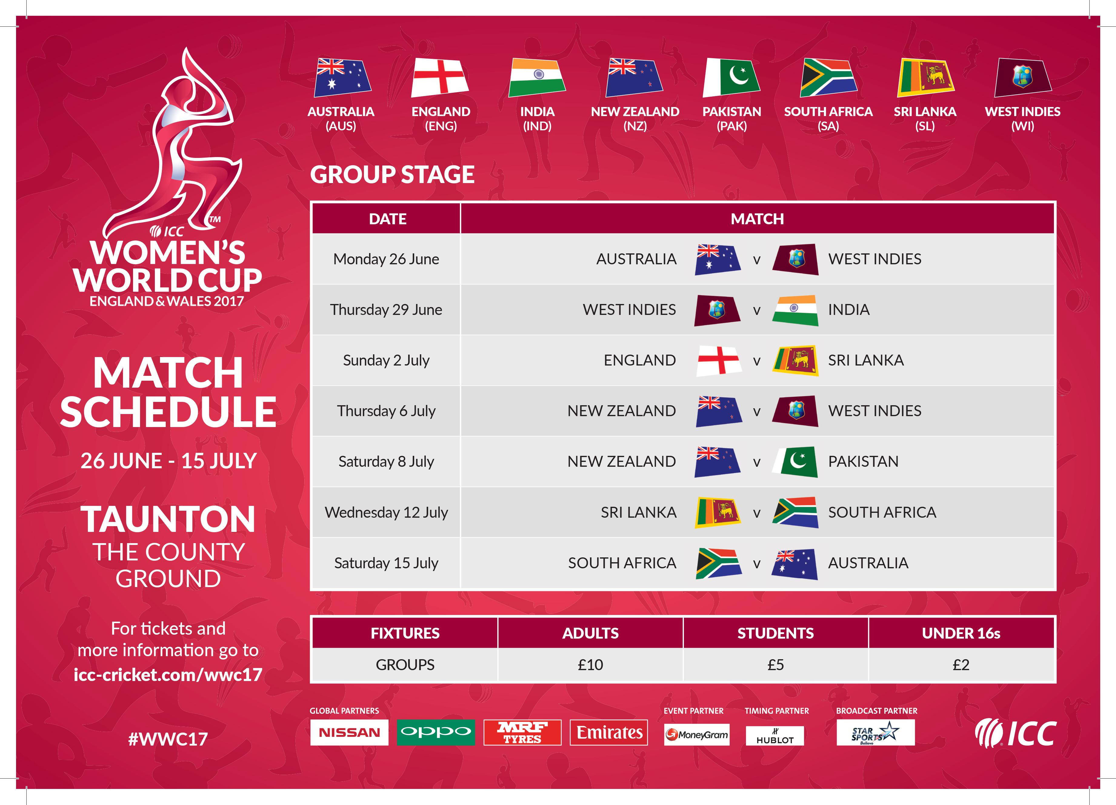 County Ground Taunton Icc Women S World Cup Match Day Suite Image Of Fixtures European Qualifiers